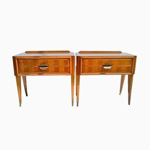 Italian Mahogany Nightstands by Paolo Buffa, 1940s, Set of 2
