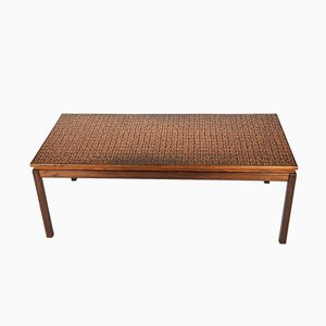 Rosewood Copper Coffee Table from Roskilde Møbelsnedkeri 1969