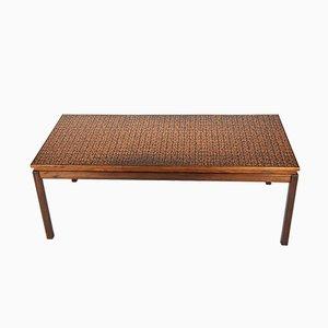 Table Basse en Palissandre et Cuivre de Roskilde Møbelsnedkeri 1969