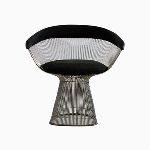 Sessel aus Leder & Nickel von Warren Platner für Knoll International, 1966, 4er Set