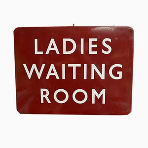 British Railways Ladies Waiting Room Enamel Sign, 1940s
