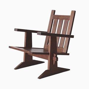 Moderner niederländischer Armlehnstuhl aus Douglaskiefer, 1920er