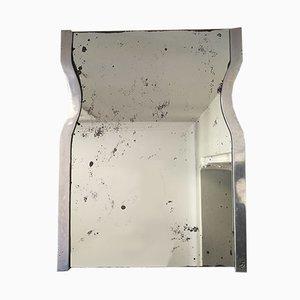 Brutalistischer Spiegel mit Aluminiumrahmen, 1970er