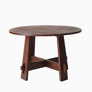 Modernist Dutch Oregon Pine Dining Table, 1920s