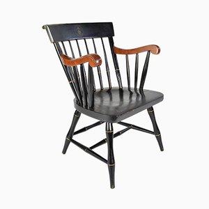 Chaise de Bureau Noire de Nichols & Stone Co., États-Unis, 1977