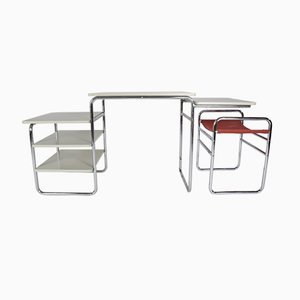 Bauhaus Style Desk & Stool Set from Auping, 1960s