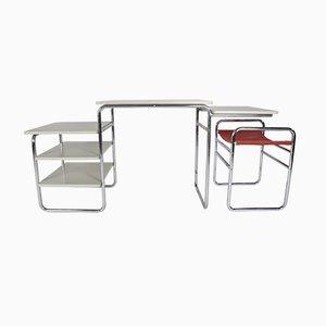 Juego de escritorio y taburete estilo Bauhaus de Auping, años 60