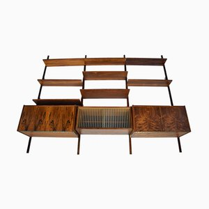 Danish Rosewood Wall Unit by Kai Kristiansen for FM Mobler, 1960s