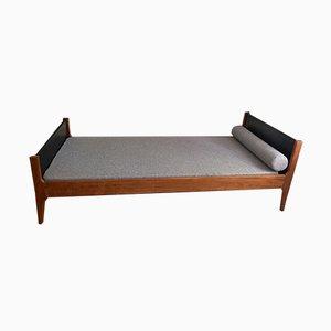Sofá cama danés Mid-Century de teca de Kai Kristiansen, años 60