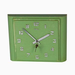 Art Deco Mint Wall Clock from Junghans, 1920s