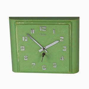 Orologio da parete Art Déco verde menta di Junghans, anni '20