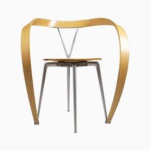 Italian Aluminum & Beech Revers Chairs by Andrea Branzi for Cassina, 1990s, Set of 6