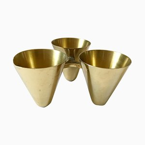 Brass Candleholder by Gunnar Ander for Ystad-Metall, 1950s