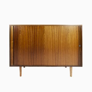 Vintage Danish Teak Sideboard with Tambour Doors by Marius Byrialsen