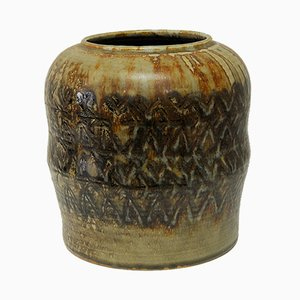Jarrón de cerámica y gres de Carl-Harry Stålhane para Rörstrand, 1958