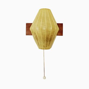 Mid-Century Italian Cocoon Metal and Plastic Sconce, 1950s