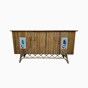 Mid-Century Sideboard aus Rattan von Chassin, 1950er
