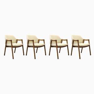 Italienische Modell 814 Esszimmerstühle von Ico & Luisa Parisi für Cassina, 1960er, 4er Set