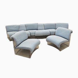 Modulares Pantonova Sofasystem von Verner Panton für Fritz Hansen, 1970er, 8er Set