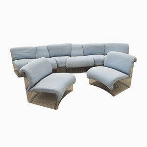 Pantonova Modular Sofa System by Verner Panton for Fritz Hansen, 1970s, Set of 8