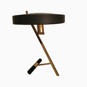 Lampada da tavolo Z in ottone di Louis C. Kalff per Philips, anni '50