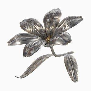 Vintage Aschenbecher in Blumen-Optik von S. Agudo