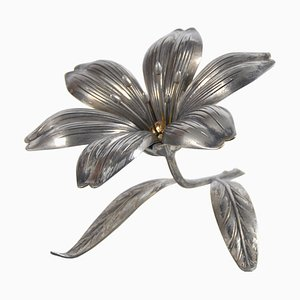 Vintage Flower Ashtray by S. Agudo