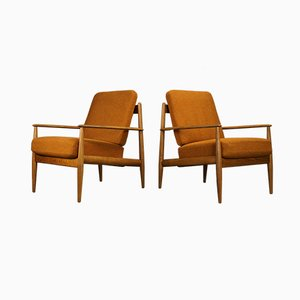 Danish Lounge Chairs by Grete Jalk for France & Søn, 1960s, Set of 2