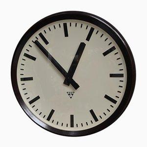 Orologio grande vintage industriale di Pragatron, Repubblica Ceca