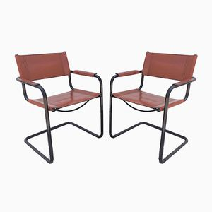 Cantilver Chairs by Mart Stam & Marcel Breuer for Fasem, 1970s, Set of 5