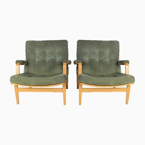 Ingrid Lounge Chairs by Bruno Mathsson for Dux, 1970s, Set of 2