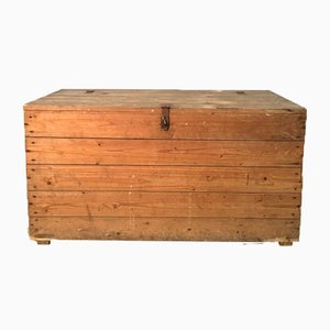 Cassettiera vintage industriale in legno di pino, anni '30