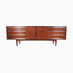 Aluminum & Rosewood Industrial Sideboard from Robert Heritage, 1960s