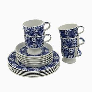 Blaues finnisches Mid-Century Ali Kaffeeservice von Raija Uosikkinen für Arabia