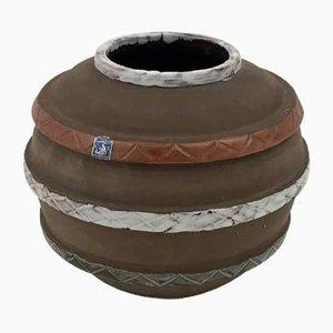 Handgemachte schwedische Vintage Kugelvase von Sigtuna Keramik