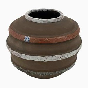 Vase Globe Vintage Fait Main de Sigtuna Keramik, Suède