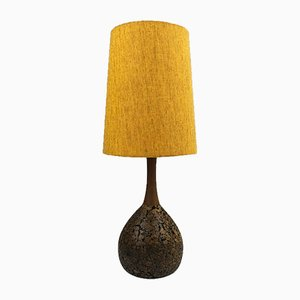 Mid-Century Danish Teak & Cork Table Lamp
