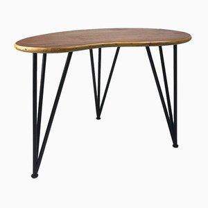 Table Basse Mid-Century en Forme de Haricot en Teck, 1950s