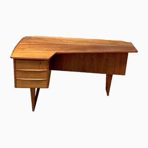 Bureau Boomerang par Peter Løvig Nielsen pour Hedensted Møbelfabrik, Danemark, 1960s
