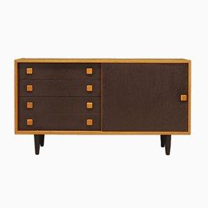 Mueble danés de chapa de fresno de Domino Mobler, años 70