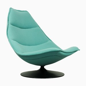 Steel & Wool F585 Lounge Chair by Geoffrey Harcourt for Artifort, 1960s