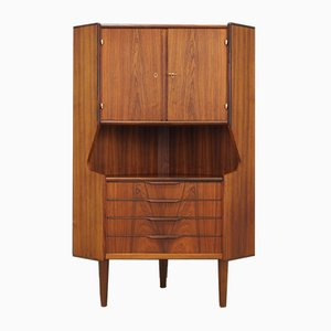 Danish Rosewood Veneer Corner Cabinet, 1970s