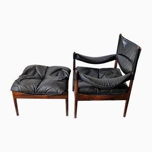 Dänischer Modus Sessel aus Palisander von Kristian Vedel für Søren Willadsen Møbelfabrik, 1960er