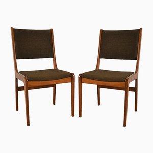 Chaises de Salon en Teck & Laine de Farstrup Møbler, Danemark, 1960s, Set de 2