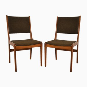 Danish Teak & Wool Dining Chairs from Farstrup Møbler, 1960s, Set of 2