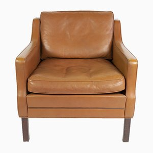 Cognac Leather Lounge Chair by Georg Thams, 1960s