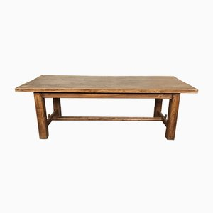 Vintage French Elm Dining Table, 1920s