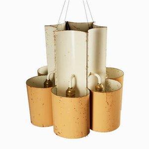 Mid-Century Deckenlampen aus Stahl, 1950er, 2er Set