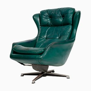 Vintage Leather Armchair from PeeM, 1970s