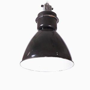 Lámpara colgante industrial vintage esmaltada de Elektrosvit, años 70